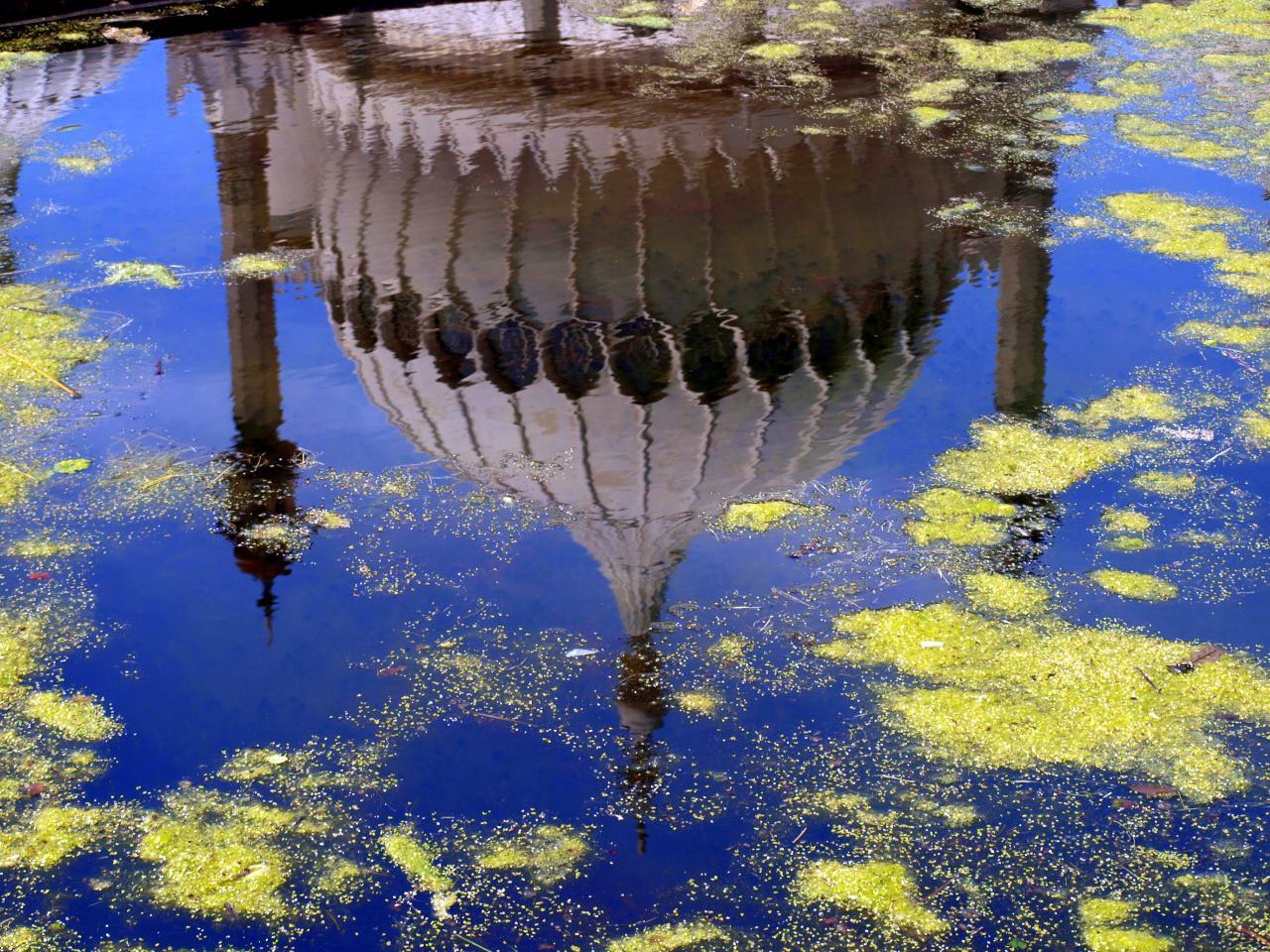 Le Pavillon Royal de Brighton en reflet
