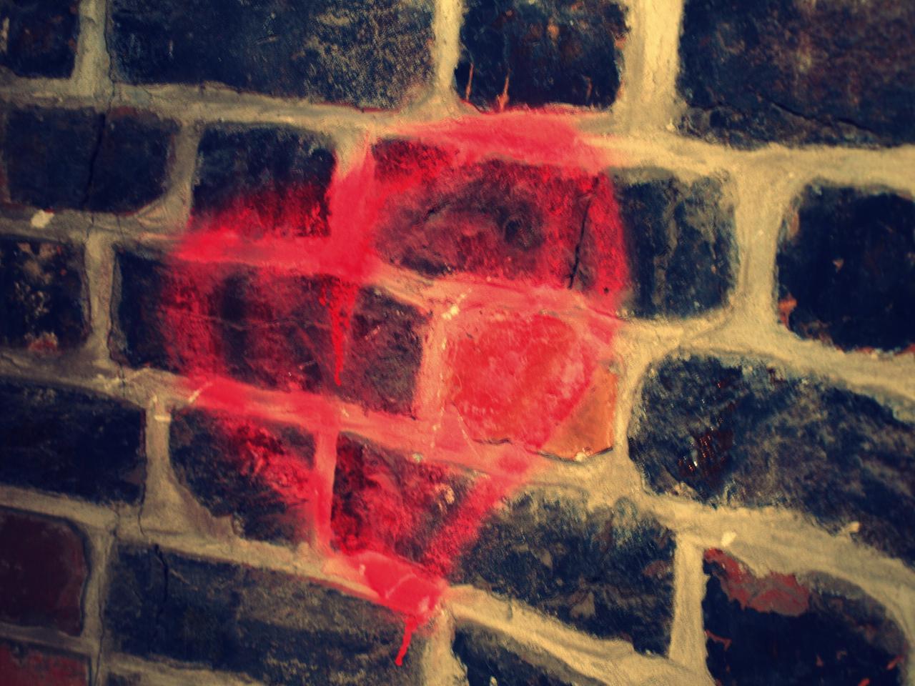 Brick wall, bulk heart
